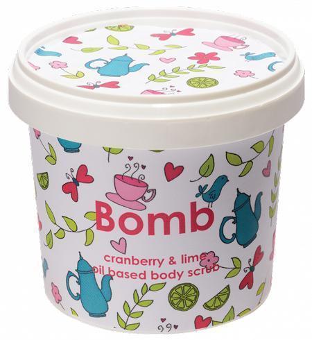obrázek Tělový peeling Bomb Cosmetics Brusinka a limetka 5729