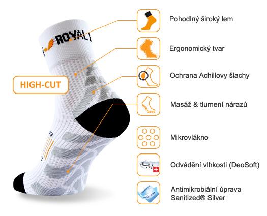 obrázek Sportovní ponožky ROYAL BAY® Classic HIGH-CUT - bílá classic-high-cut-0000